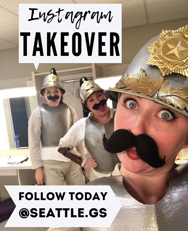 Second weekend of shows for Princess Ida and the #gamabros are taking over the @seattle.gs instagram! Follow along all day today for behind the scenes adventures🏰 #seattletheatre #seathtr #gilbertandsullivan #princessida #instagramtakeover #igtakeover