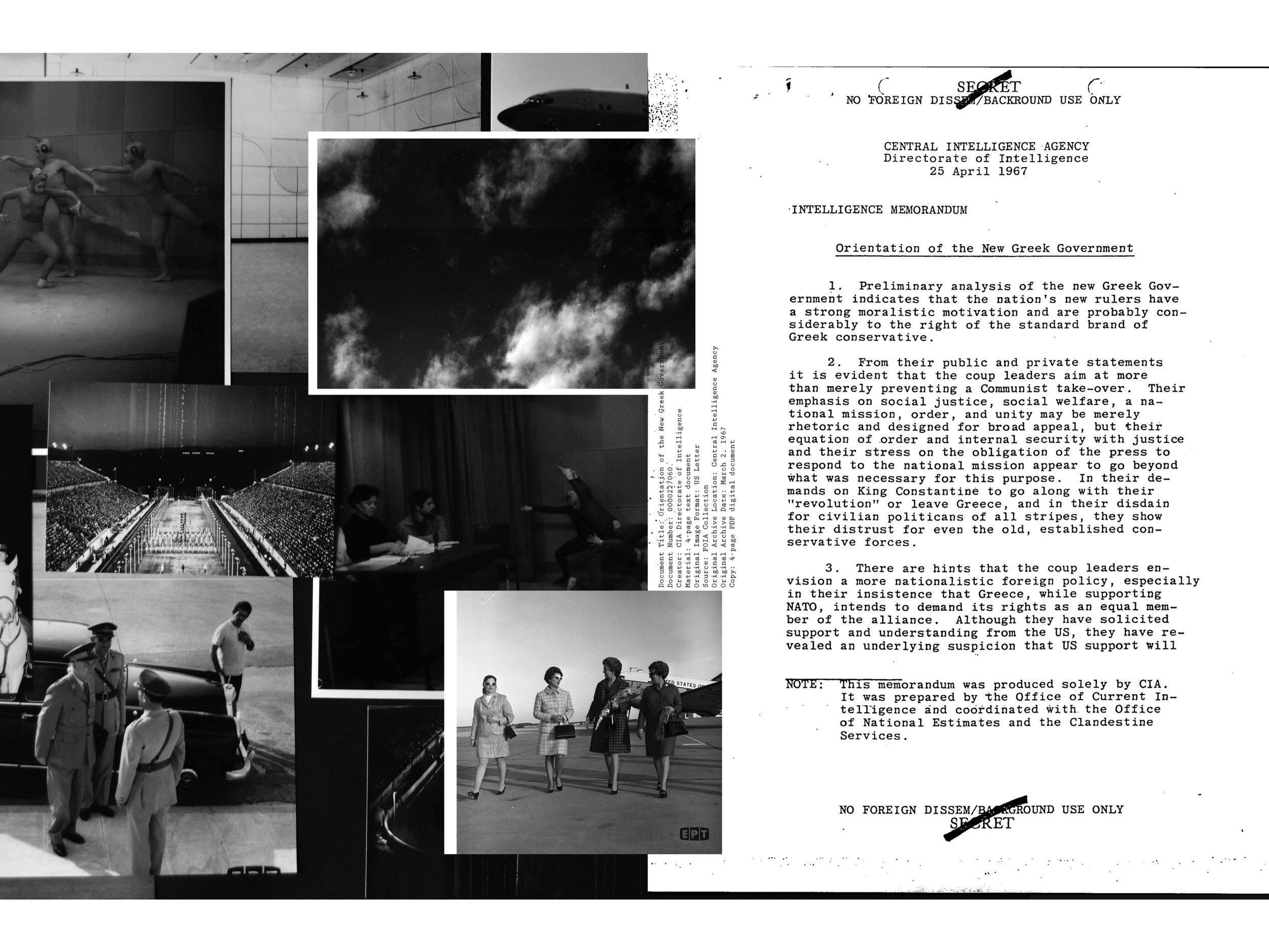 Archive Crisis, page spread.