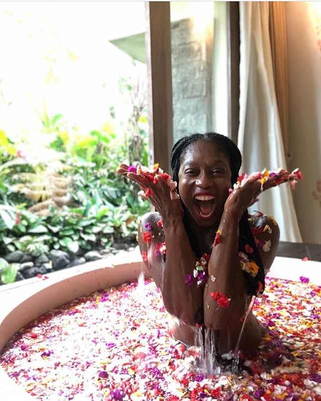 Monday mood: @lifebyjaynee 🌸 Can't get to Bali? Create your own oasis with @ritualbae bath soaks, now available for pre-sale. We've had our eye on the latest launch by Kiara Lash 'cause we're always here for leveling us up some self care. Ritual Bae uses flowers, herbs, and natural salts to heal and attract wealth, health, love, and good vibes. She knows the universe provided all that is needed to manifest everything the heart and mind desires, and to get rid of toxic energy and exes. She's out here feeling rejuvenated, invincible, and living up to her fullest potential. YOU ARE RITUAL BAE.  Choose your magic. www.ritualbae.com