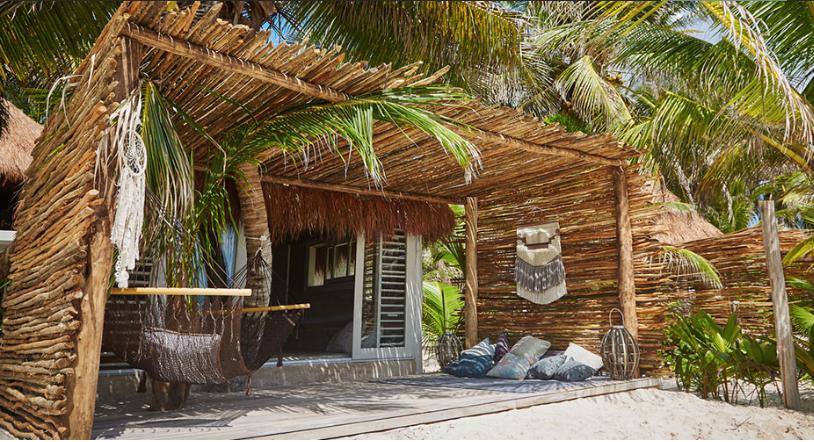 Nomade Tulum - Går att få rum från 4000/natt men strand rummen går på runt 5-6000/natt