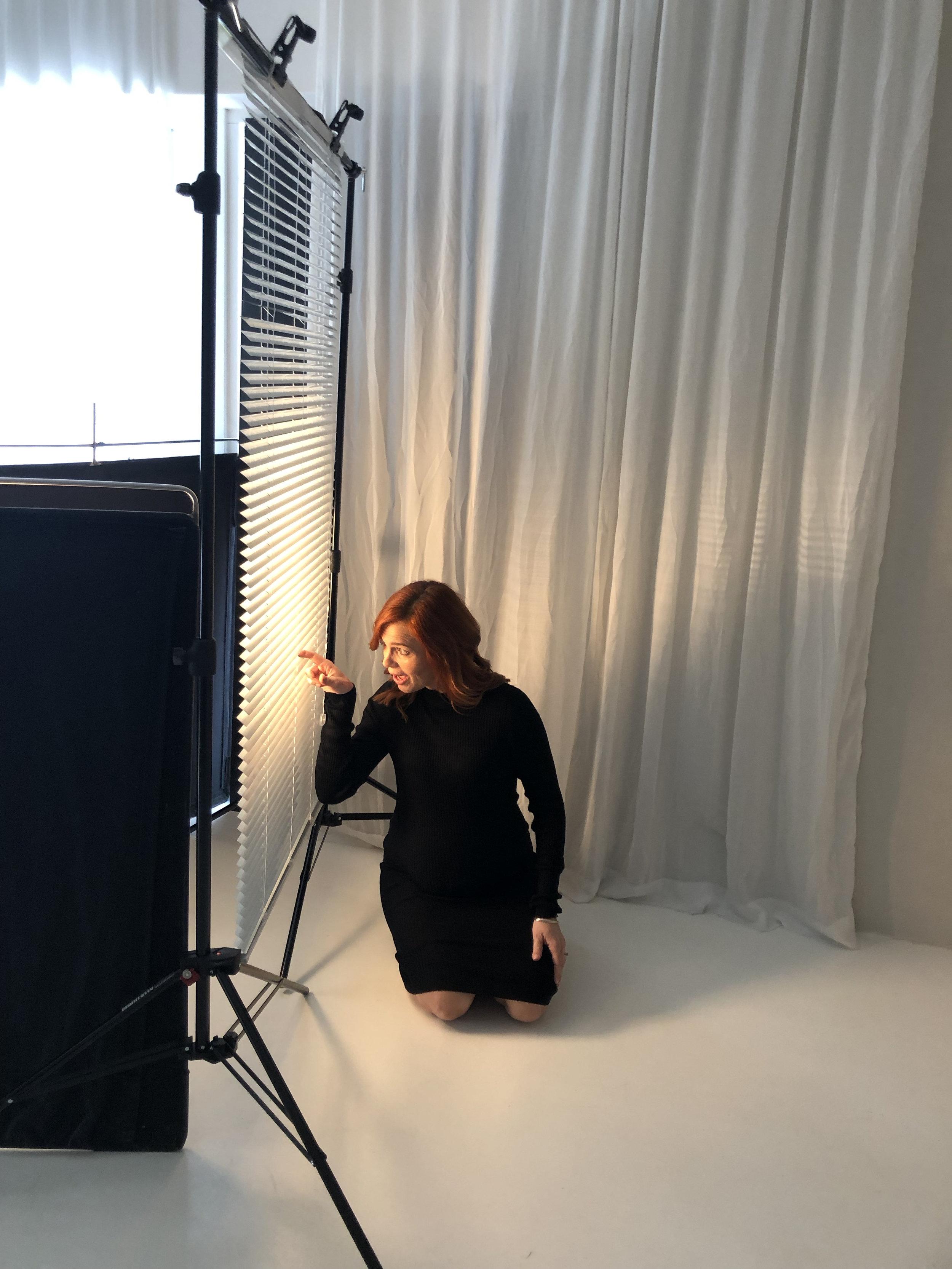 behind the scenes - med persienn kvinnan Elin