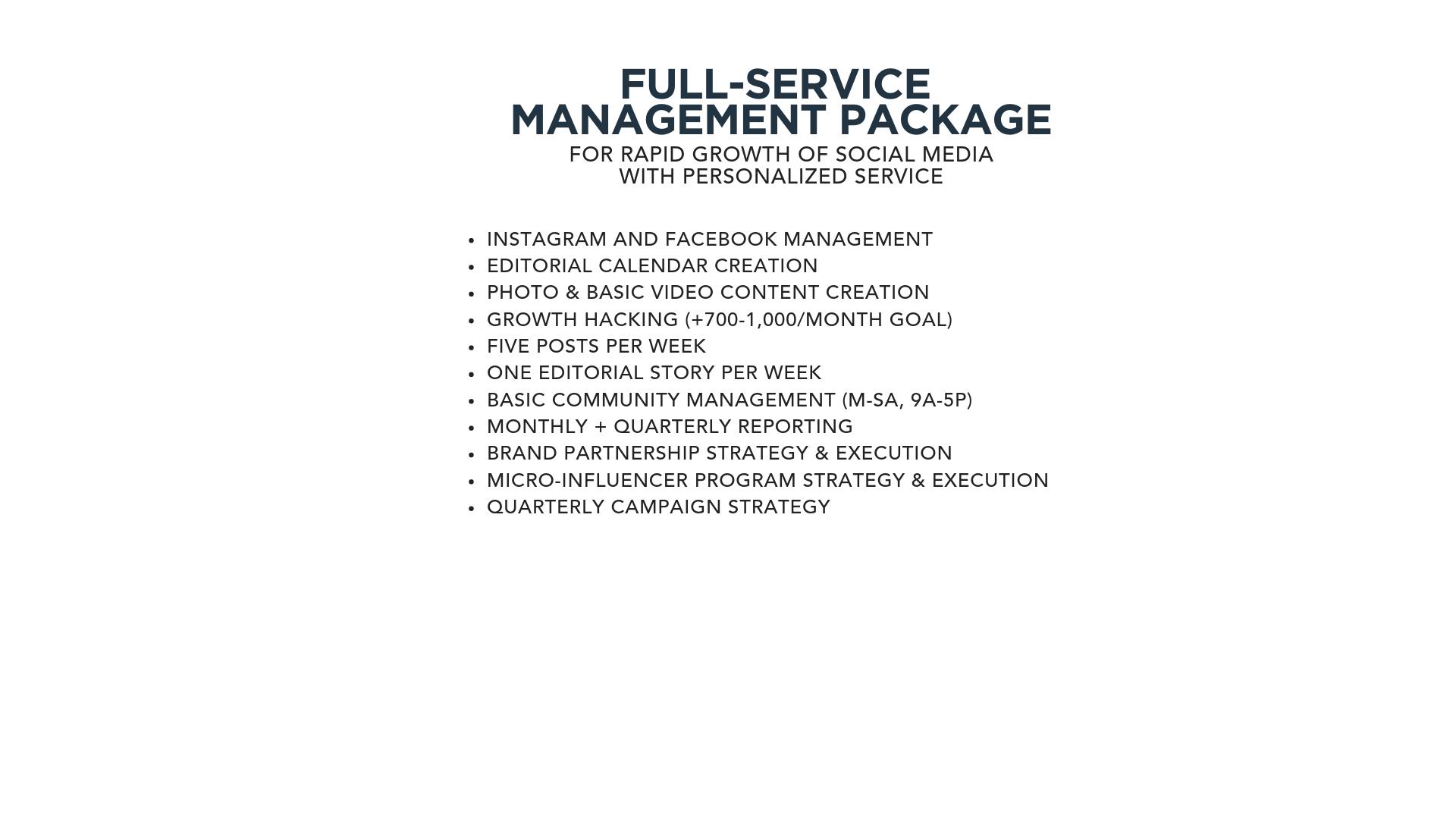 Services — Mooneyham Management