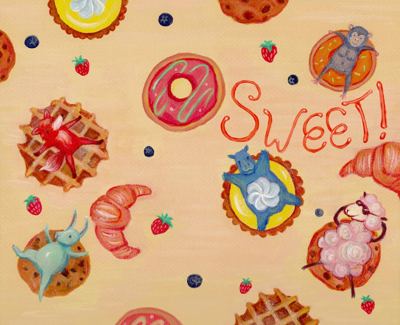 Sweet! Cover Spread Design