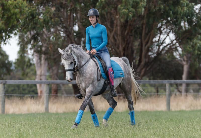 Lara Beth with her Arabian horse, Tubbarubba Snow White.