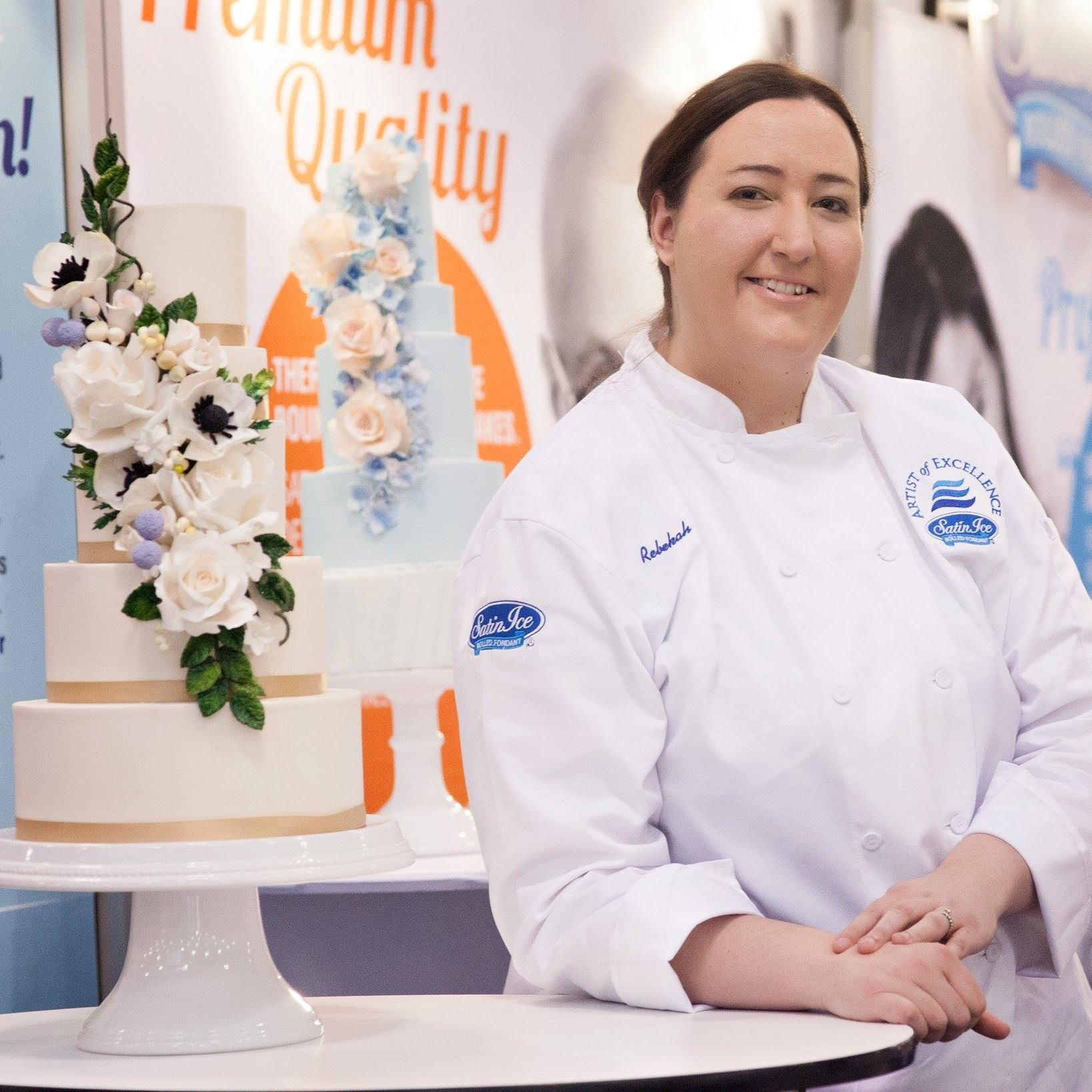 Rebekah Wilbur, owner of Rebekah Naomi Cake Artistry, a Virginia-based wedding cake shop