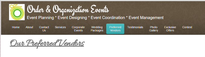 Become a Preferred Vendor - Connect with other wedding professions to join their preferred vendor lists.