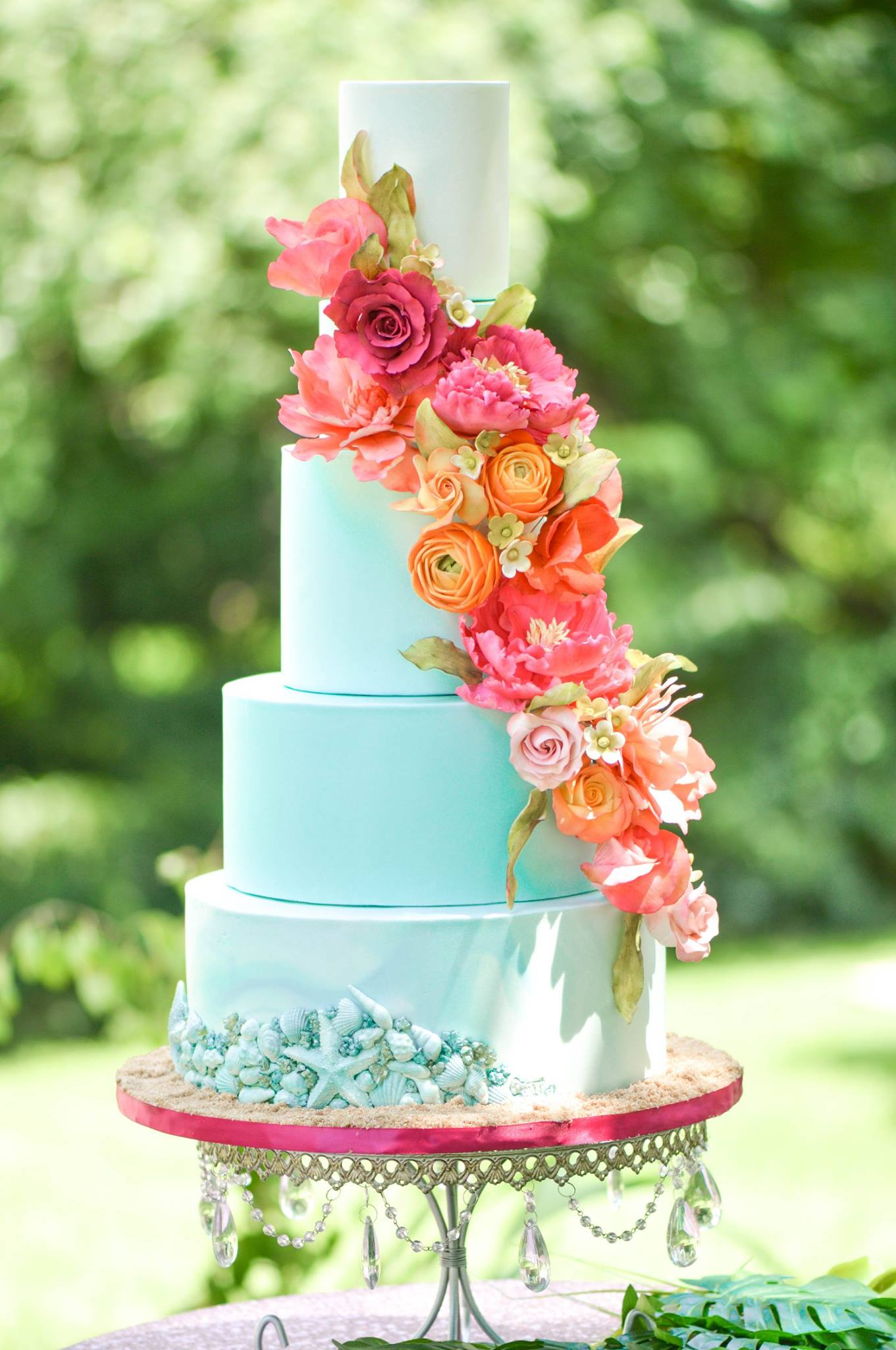tropical wedding cake Northern Virginia