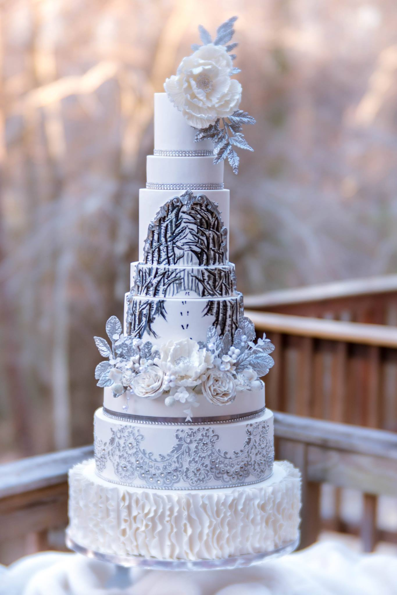 Rent the Cake - This entirely faux wedding cake is indistinguishable from the real thing and can be rented for less than 1/3rd of the cost of the real cake.