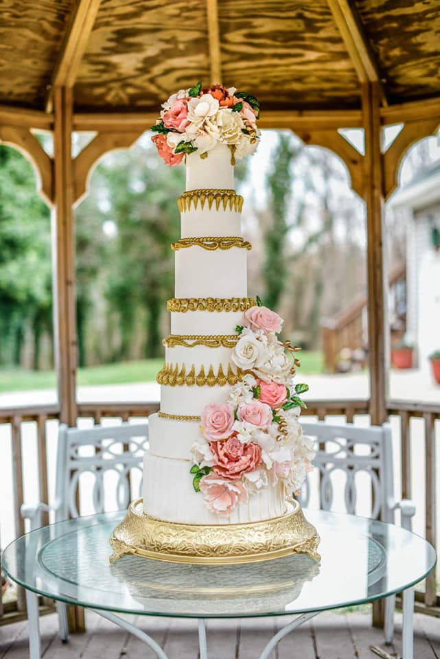 marie antoinette cake coral and gold.jpg