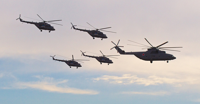 """"""" Mi-26 and Friends """" by  Andrey Belenko  is a Creative Commons image, licensed under  CC-BY 2.0"""
