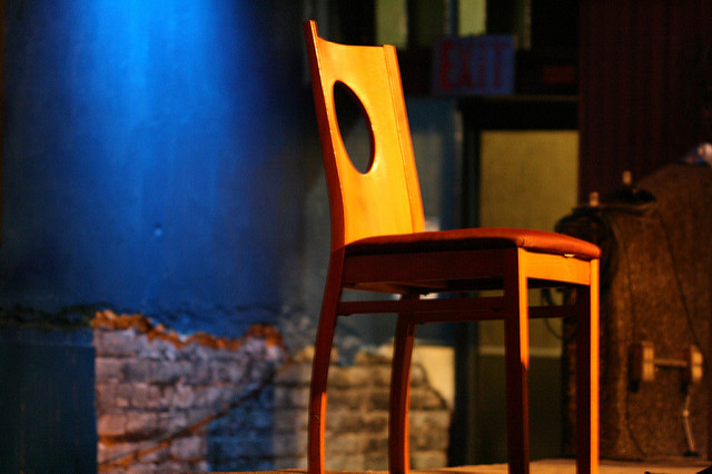 """ Lonely Chair "" by  Sharyn Morrow  is a Creative Commons image, licensed under  CC-BY-NC-ND 2.0"