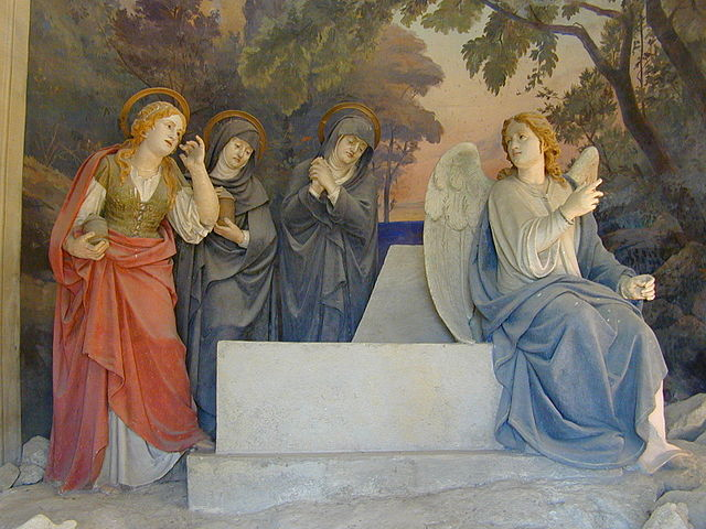""""""" The Finding of the Empty Tomb of Christ """" by Antonio Brilla (1889) is a public domain image"""