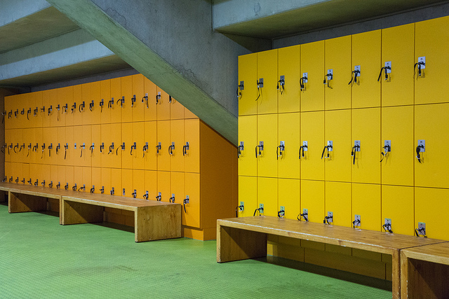 """ Locker Room "" by  Simon Malz  is a Creative Commons image, licensed under  CC BY-SA 2.0"