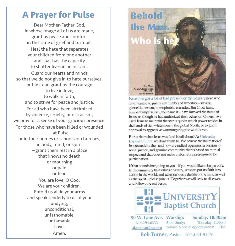 Prayer for Pulse Handout 6/16/16