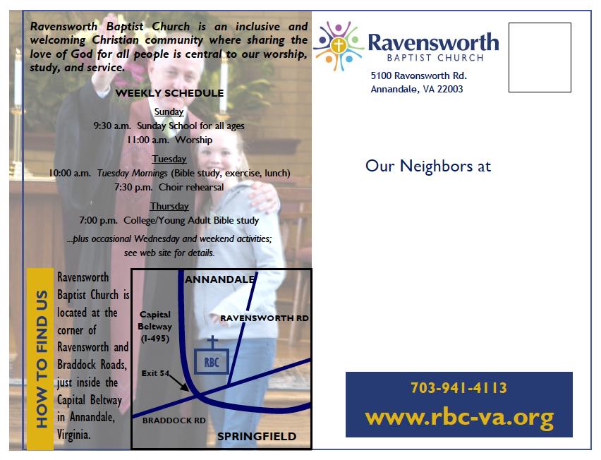 New Neighbor Postcard 2010 — Rear