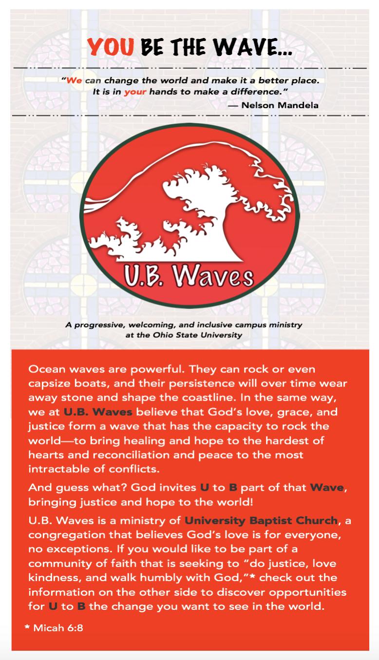 U.B. Waves Rack Card