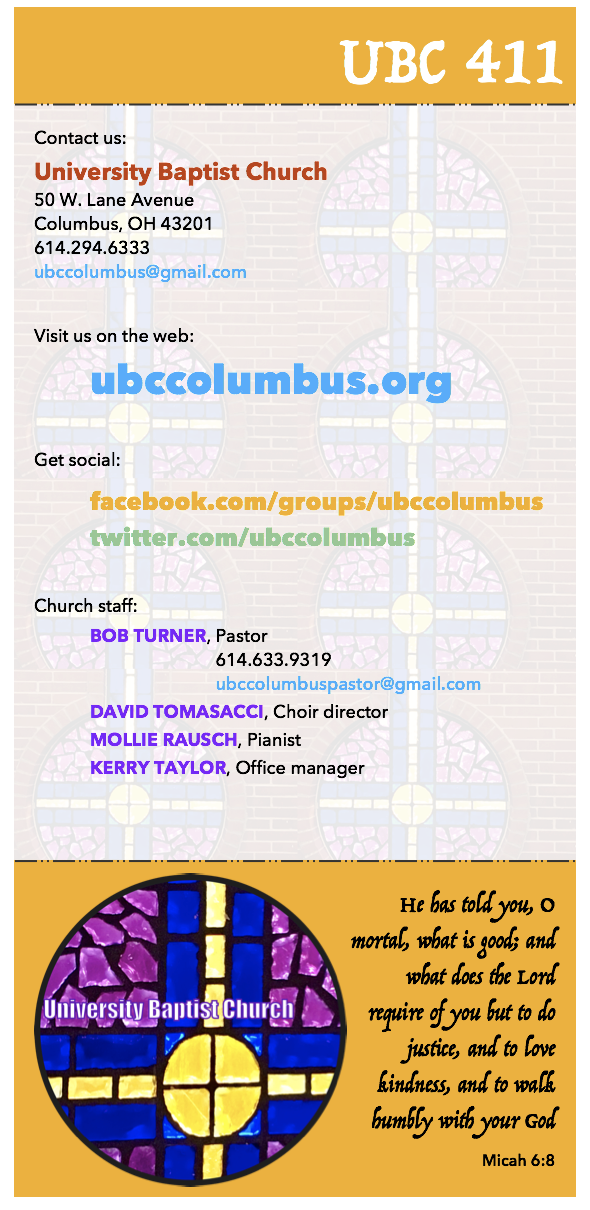University Baptist Contact Information