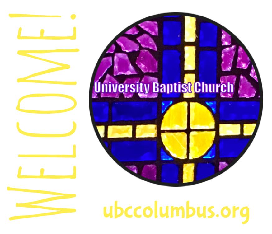 University Baptist Church Welcome Sticker