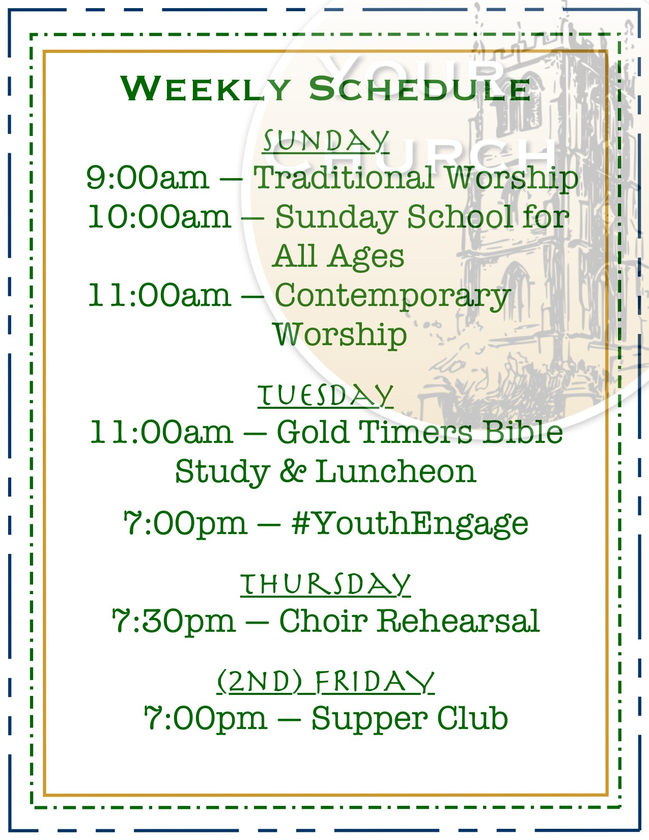 YourChurch Weekly Schedule