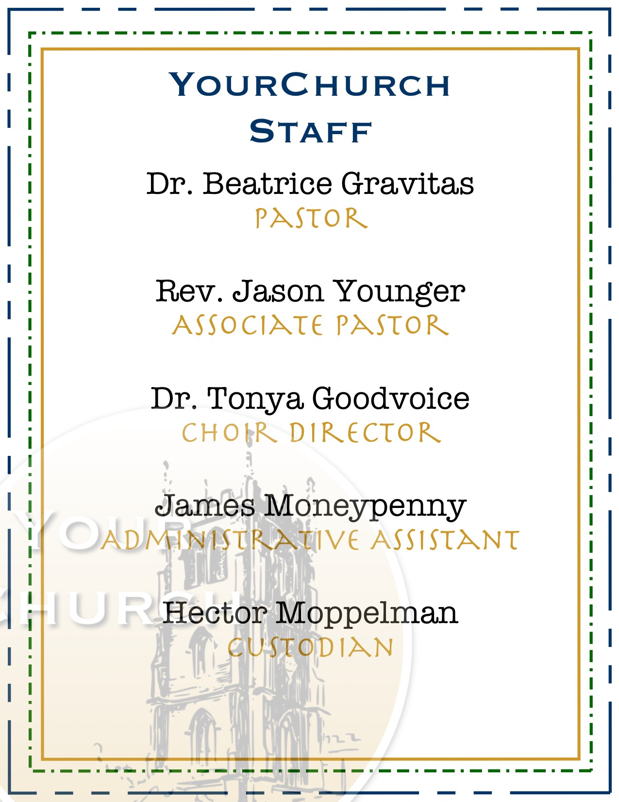 YourChurch Staff List