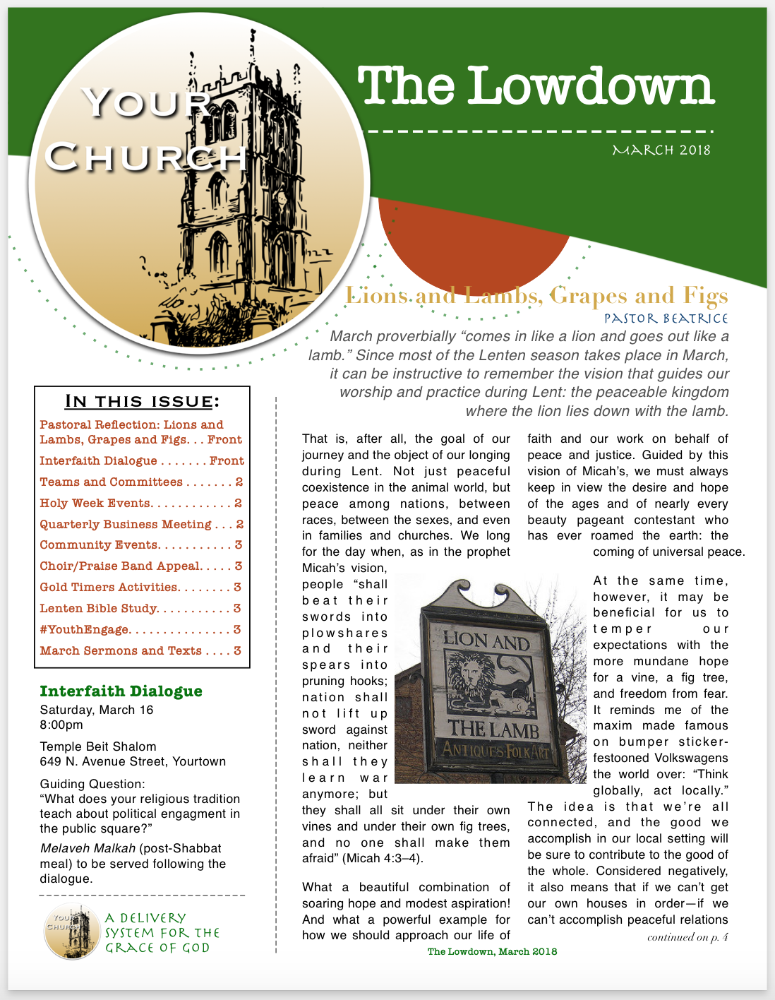 YourChurch Newsletter, March 2018