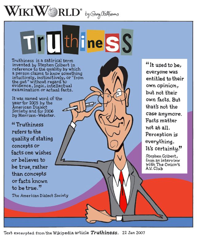 """ Truthiness "" by  Greg Williams  is a Creative Commons image licensed under  CC BY-SA 2.5 ."