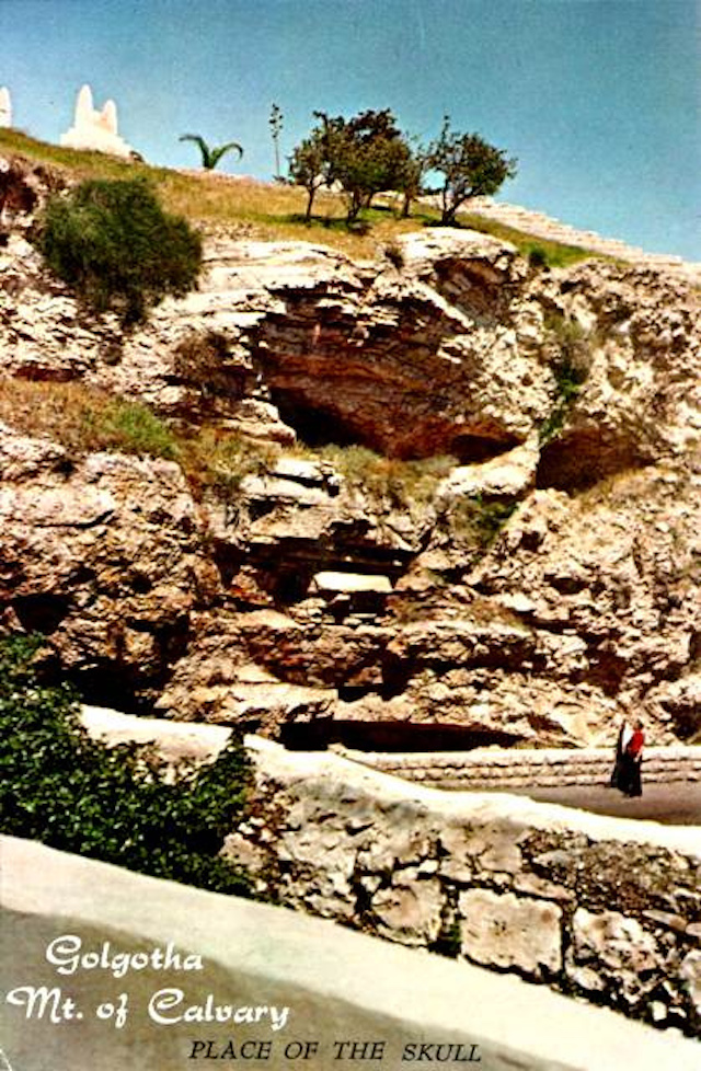 """"""" Golgotha–Mt Calvary–Israel """" by  R. Orville Lyttle  is a Creative Commons image licensed under  CC BY-SA 2.0 ."""
