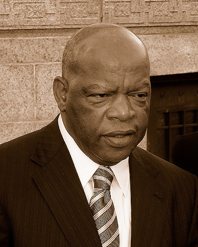 """ Rep. John Lewis (sepia) "" by  Chris Walton  is a Creative Commons image, licensed under  CC BY-NC 2.0"