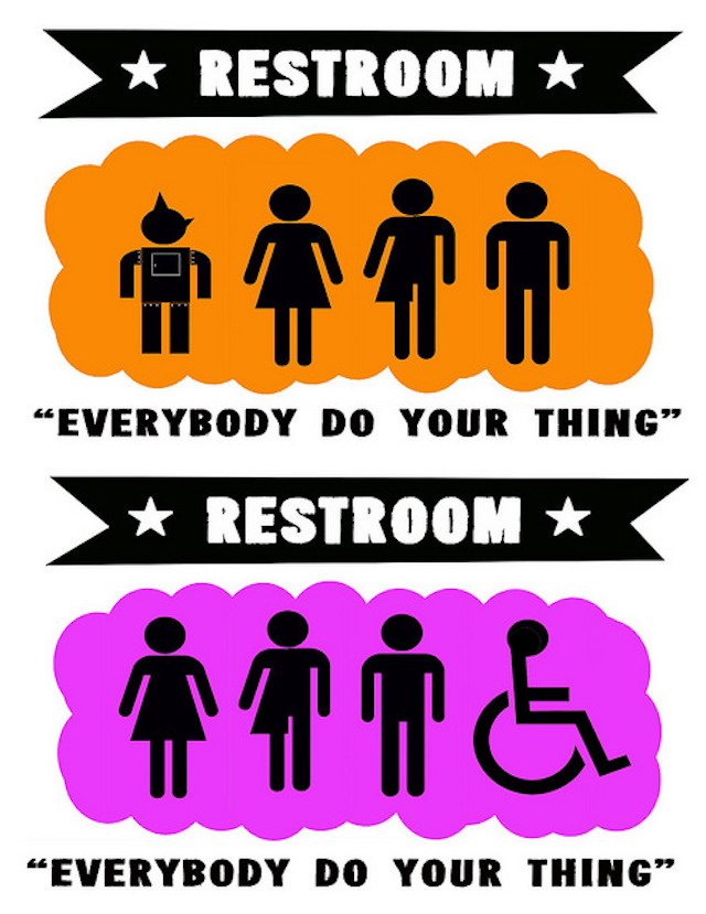 """Image: """" Gender Neutral Bathroom Sign Baby Wale Restaurant DC """" by  Ted Eytan  is a Creative Commons image, licensed under  CC-BY-SA 2.0"""