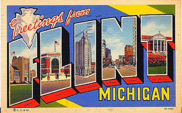 "Image: "" Greetings from Flint Michigan "" by  Mike Licht  is a Creative Commons image, licensed under  CC-BY 2.0"