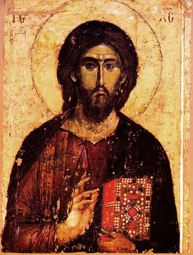 "Image: "" Jesus Christ Pantocrator "" is in the public domain"