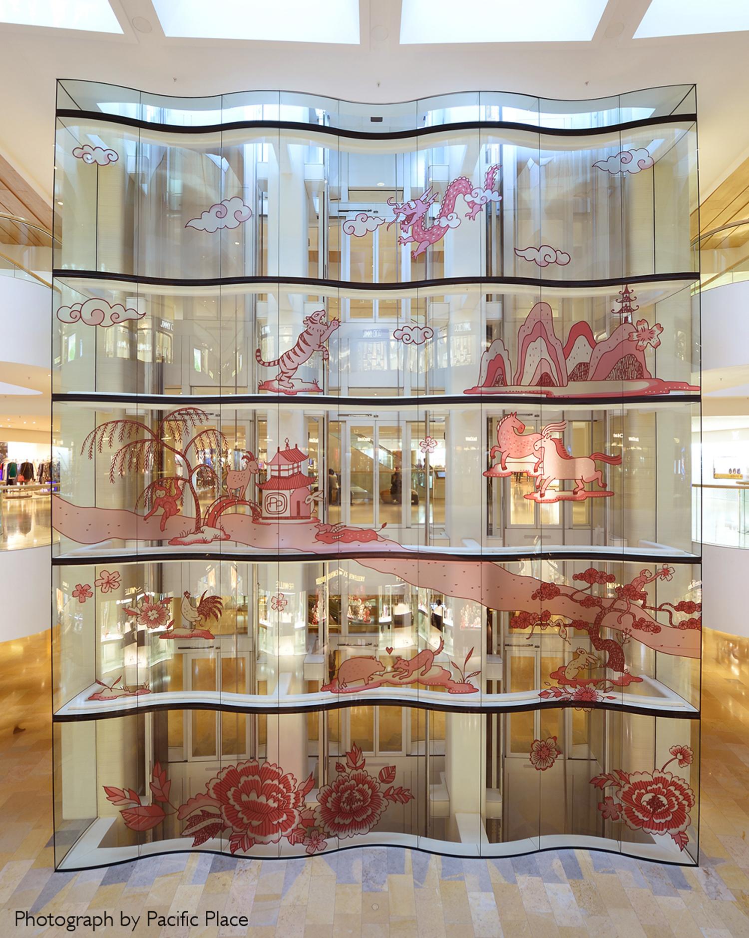 Chinese New Year mall installation