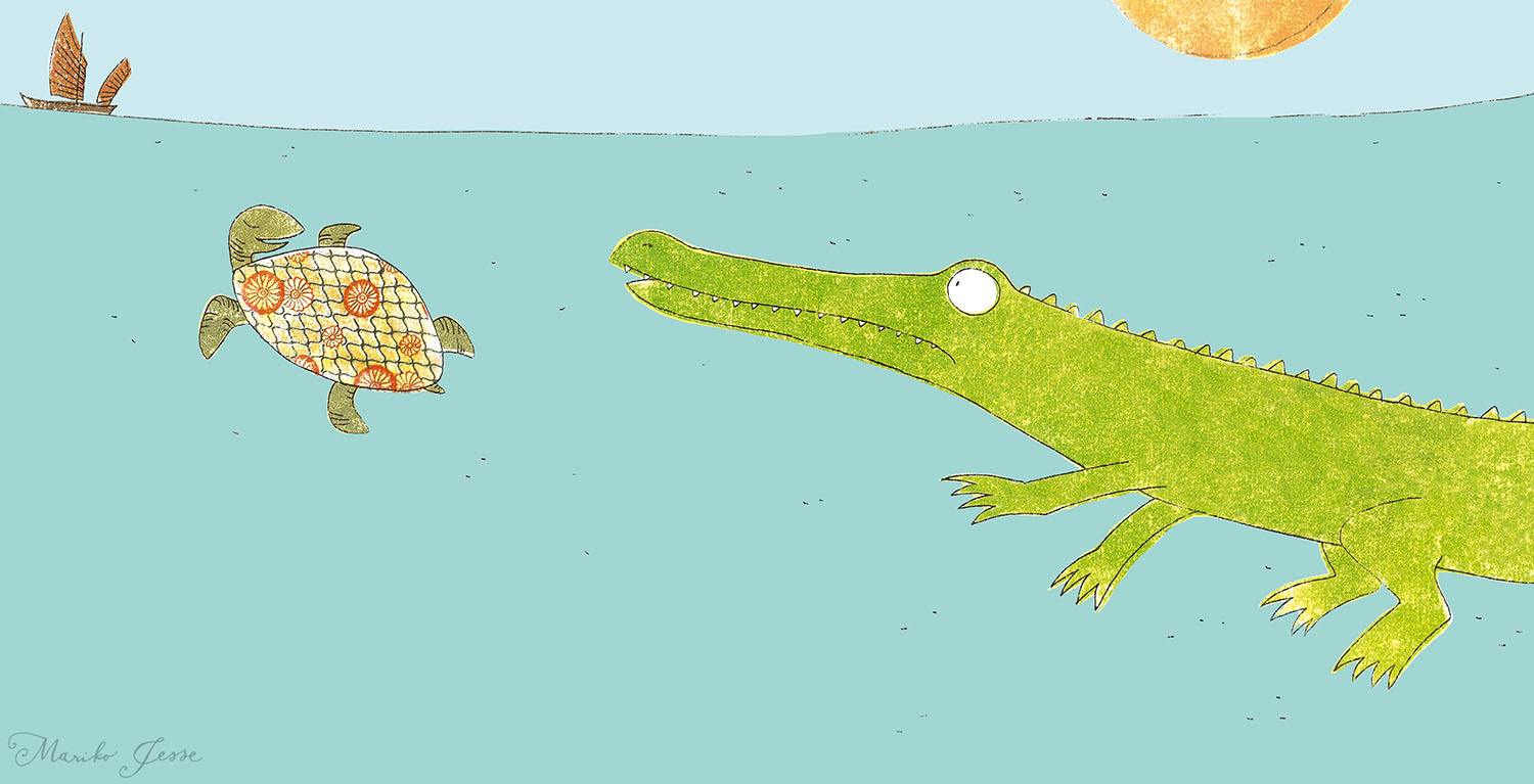 The crocodile who wanted to be famous picture book