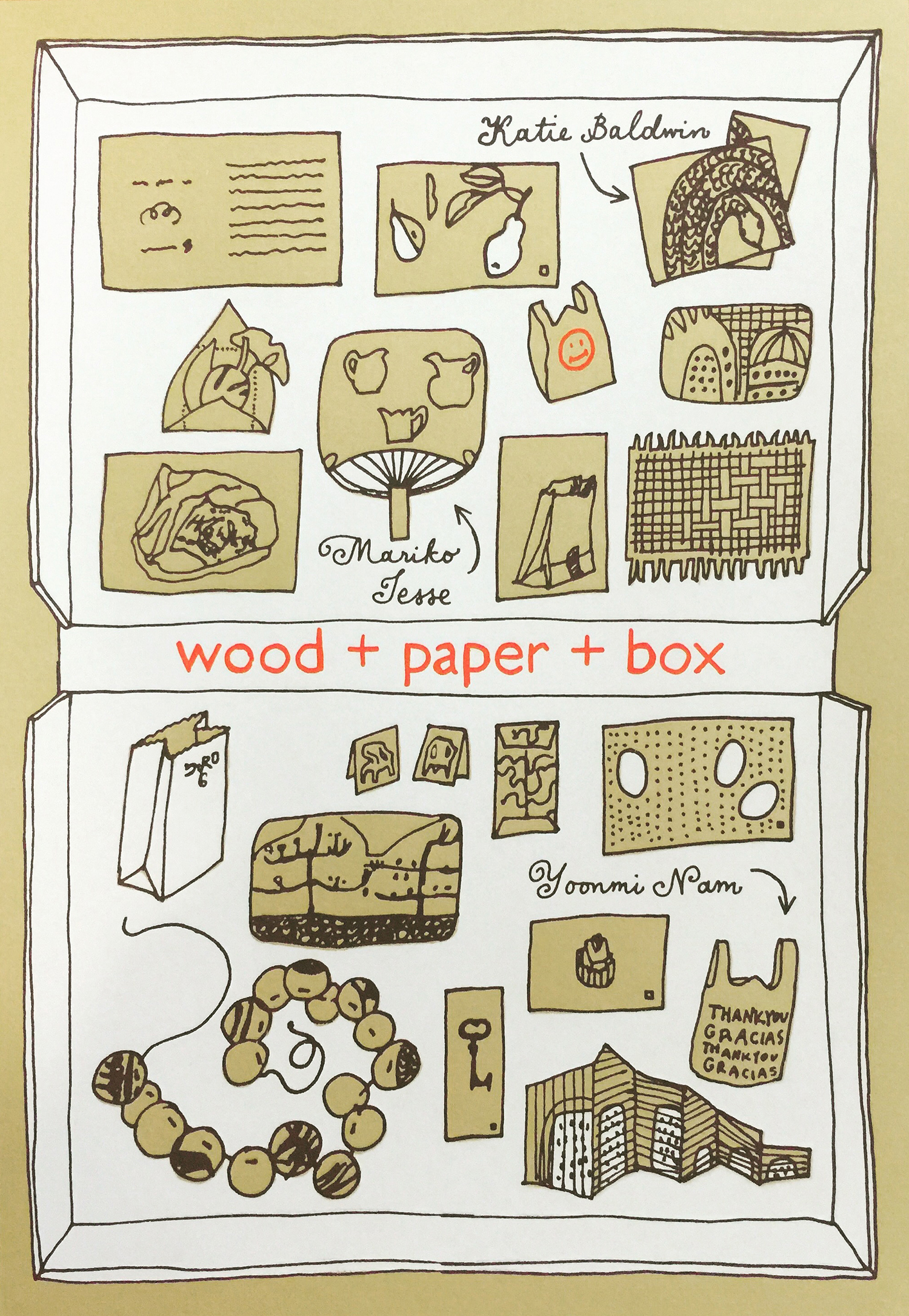 wood + paper + box poster