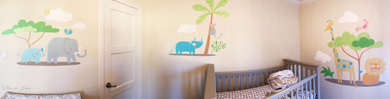 nursery room mural