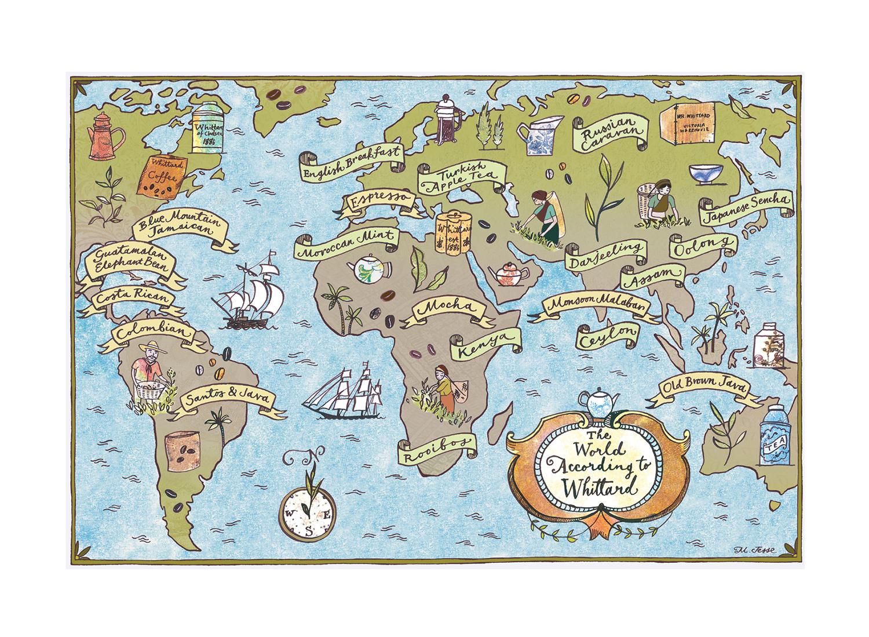 tea and coffee map