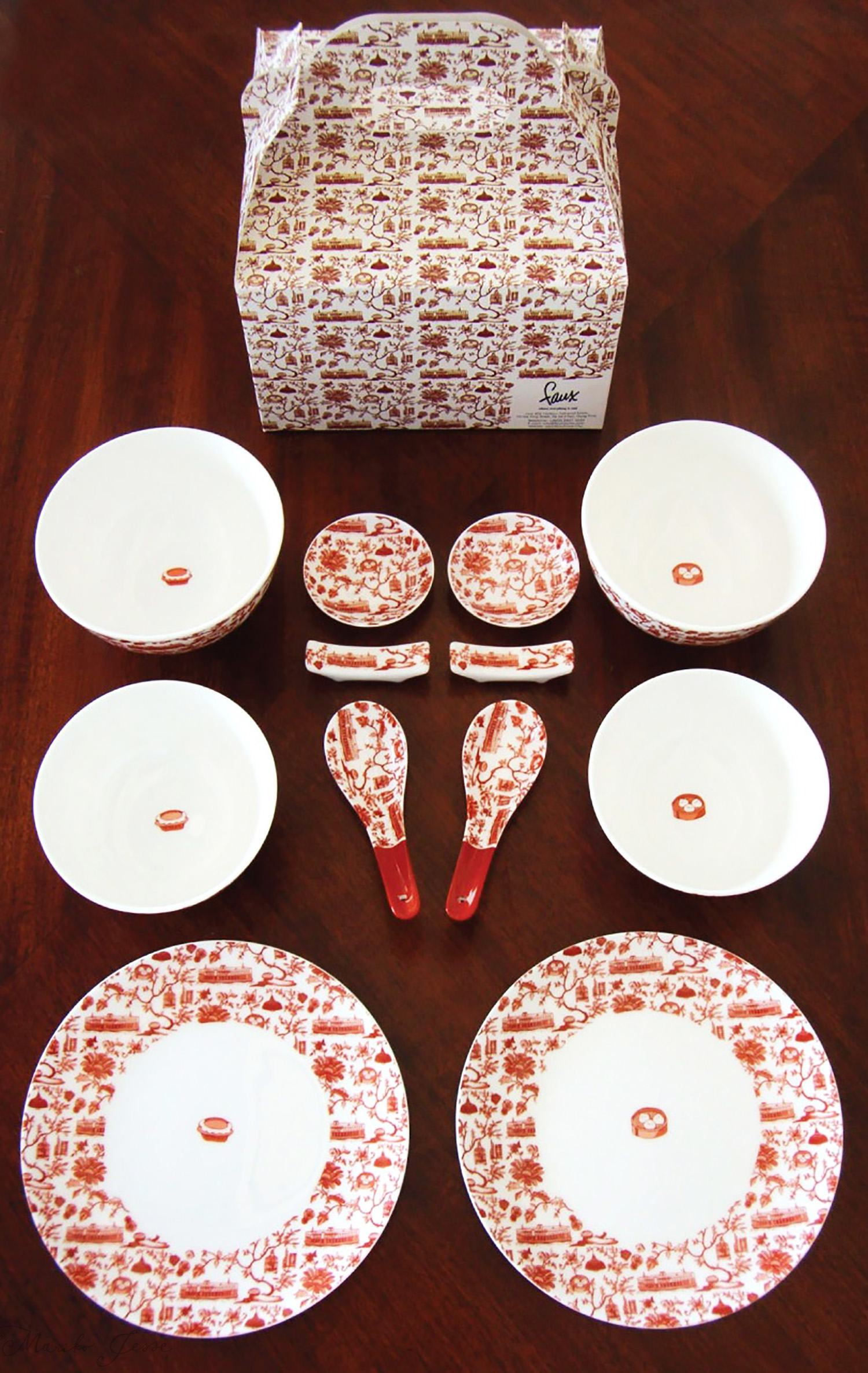 soup set in HK toile collection