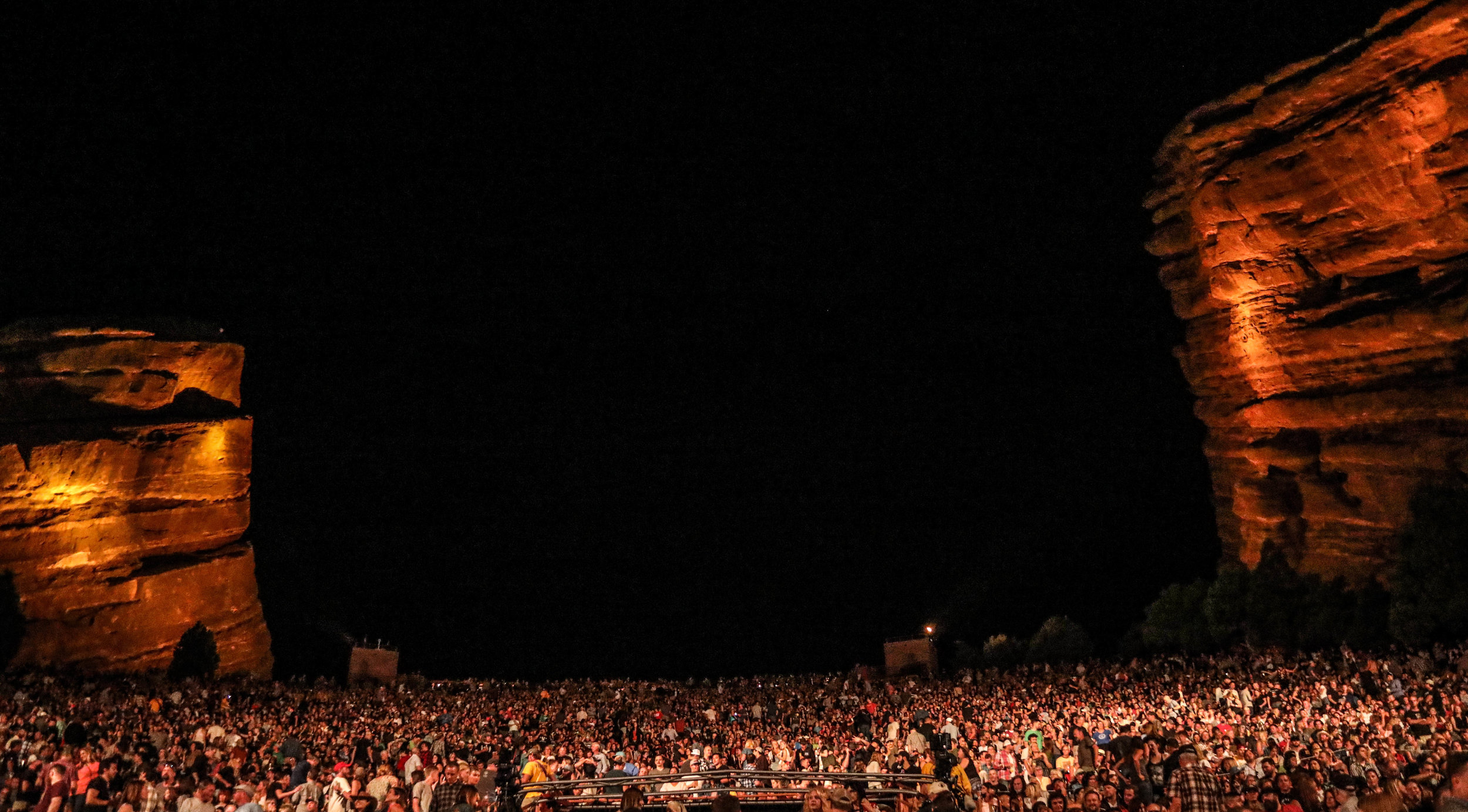 A sold-out Red Rocks crowd.