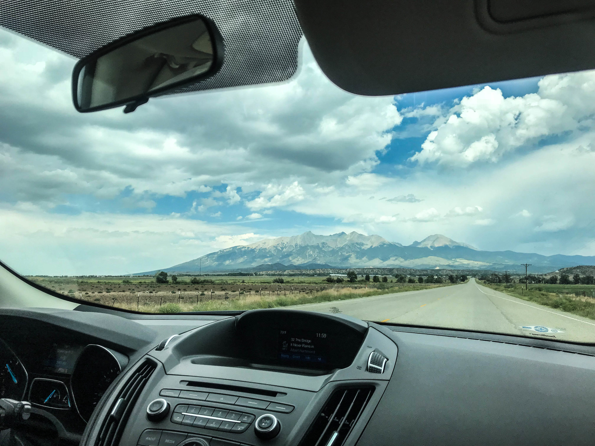 Views of the Sangre de Cristo mountains near Taos, NM.
