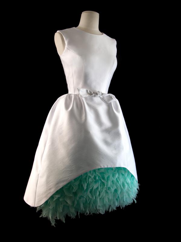 The' Au Ritz tea length wedding dress