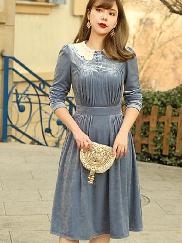 Velvet court dress by Mr Water - Etsy