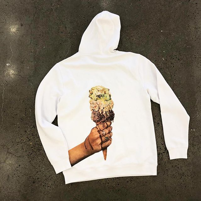 7 of the 20 limited edition hoodies left!  Designed by @jordaanjames  1 large, 5 mediums, 1 small - all in men's sizing - $120