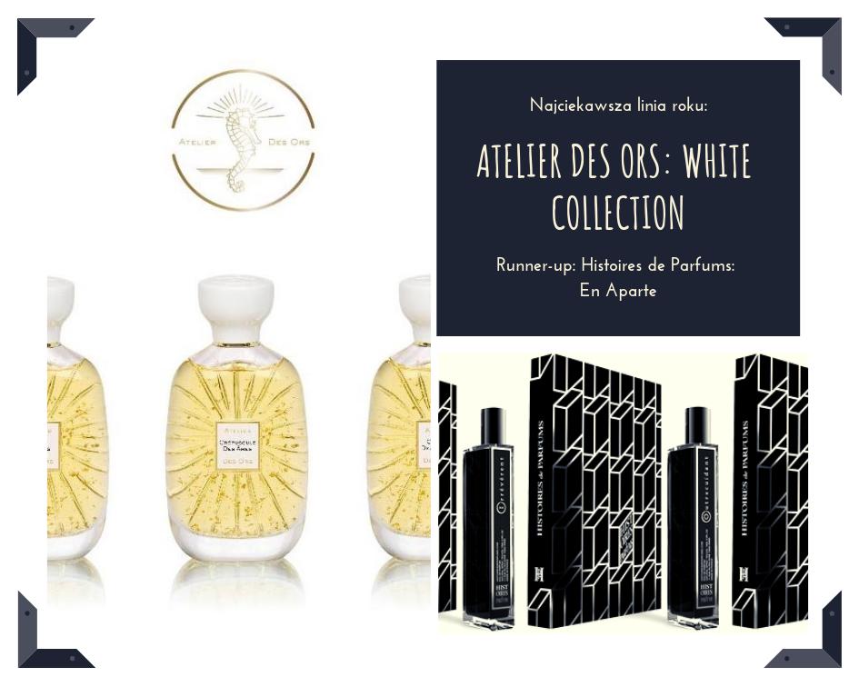 Kolekcja biała i kolekcja czarna. Obie w równym stopniu mnie zafascynowały. Atelier des Ors (Quality) w bieli szuka piękna i czystości sztuki, podając nam pomarańcze na trzy różne sposoby. En Aparte od Histoire de Parfums (Mon Credo) to odrobinę cięższy, ale w równym stopniu piękny zapachowy kaliber. Zawiesiste pachnidła czerpią z piękna słowa pisanego i nieziemsko pięknie się nazywają - Prolixe, Outrecuidant i Irreverent.