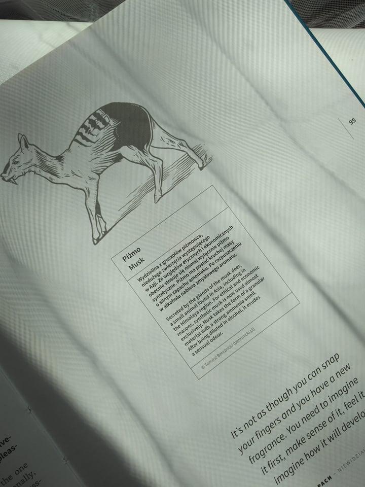 """Fragment książki """"Zapach - Niewidzialny Kod"""" towarzyszącej wspomnianej wystawie"""