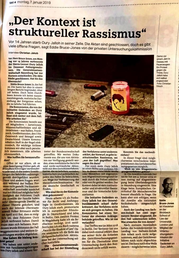 Die Tagezeitung7 Jan 2019 -