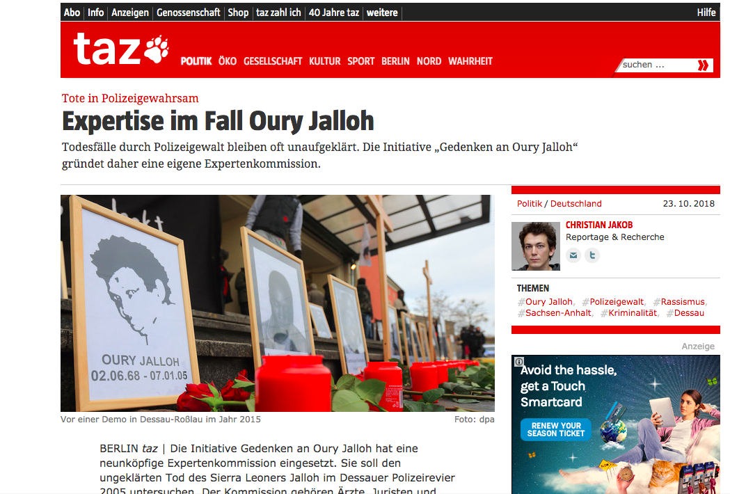 Die Tageszeitung23 Okt 2018 -