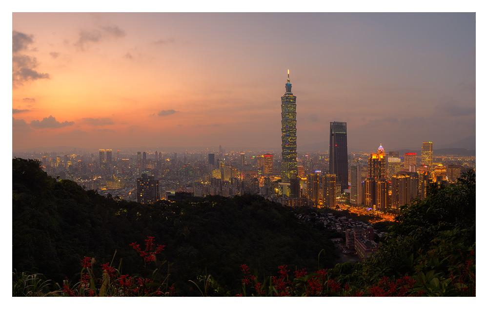 Taipei Skyline just after sunset