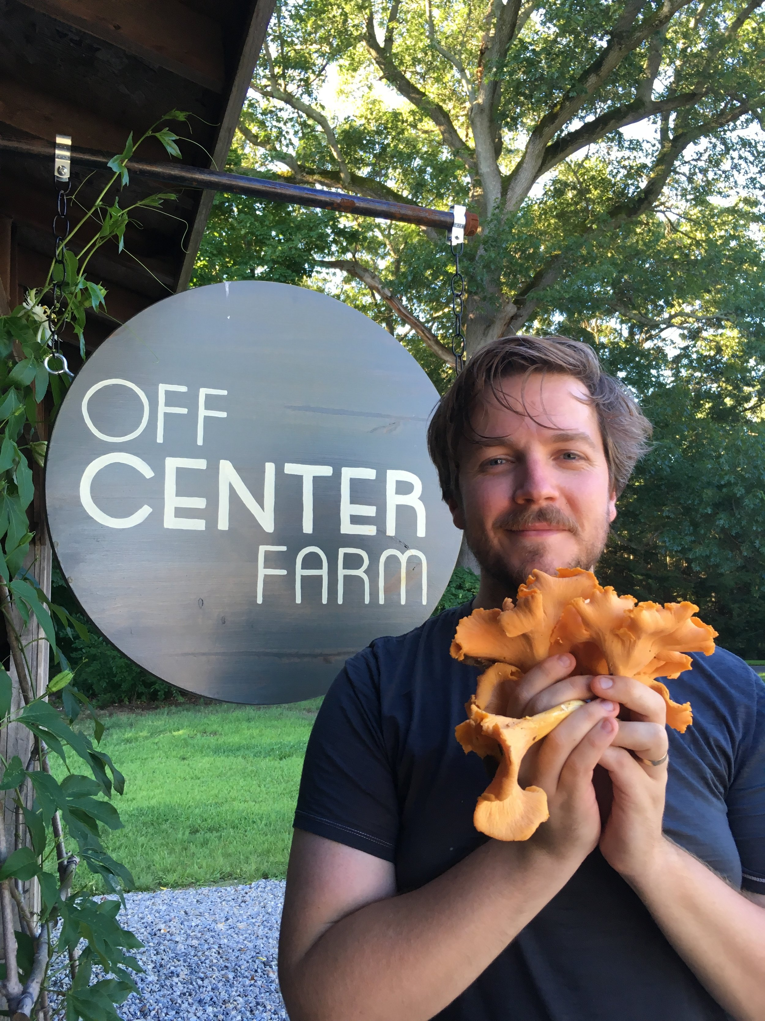 Oliver with chanterelles.JPG