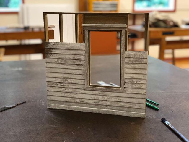 Paint sample.  #woodworking #wood #siding #construction #framing #house #architecture #miniature #model #wip #sculpture #paint #finishing #art