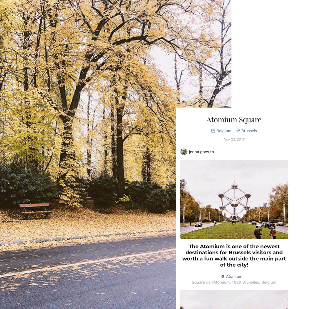 See the Fall Foliage - The leaves changing is the most magical part of fall. And a day in the park is the best way to enjoy this beautiful part of nature. Jenna found herself in this amazing park in Brussels last year, and you can relive that memory with her here.